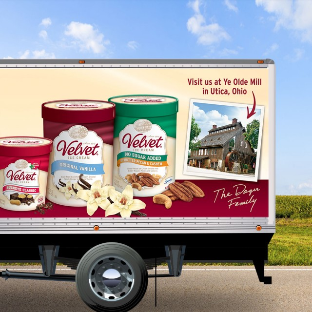 fleet graphics, velvet ice cream, velvet, ohio, design,